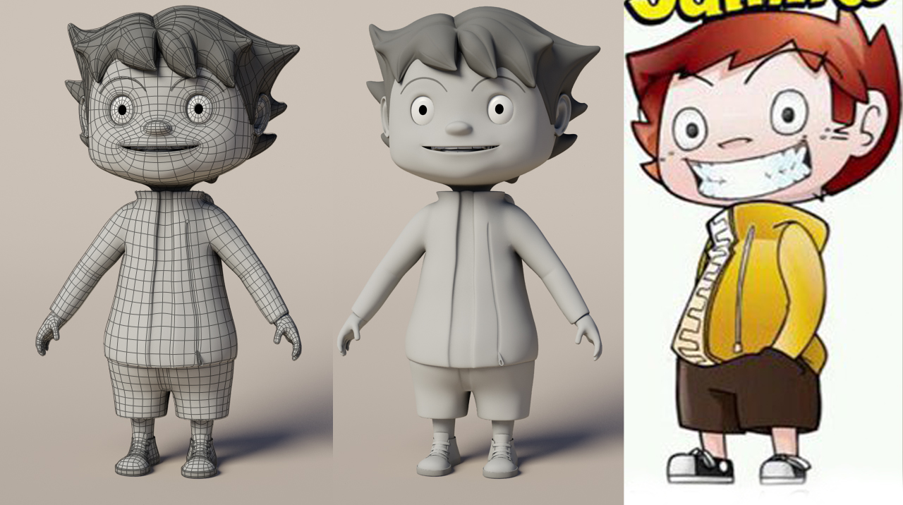 3d Character Design Website : Jaimito d character karem yamin portfolio